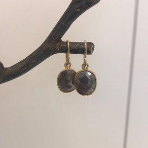 Sundance Catalog Faceted Hematite Earrings-GREAT!